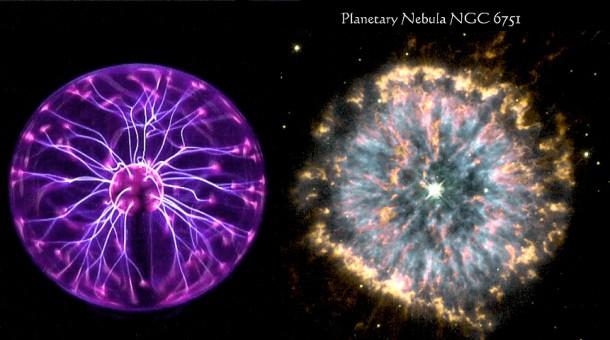 Plasma ball + NGC 6751